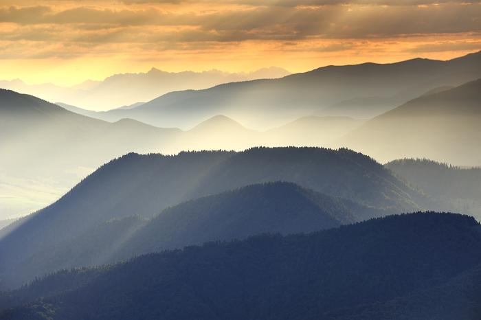 Country of ridges