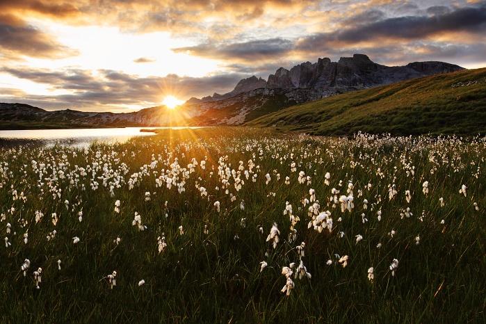 Morning Sun in Dolomites