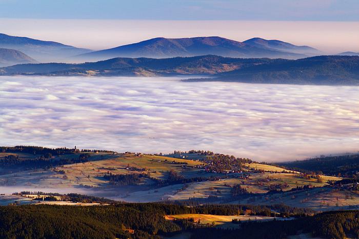 Polish country under Tatras mountains