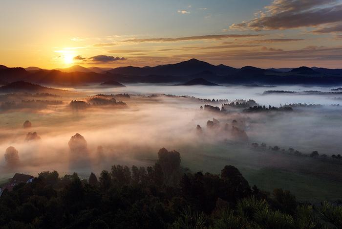 Ráno pod Studeným vrchem
