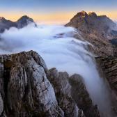 Random landscape photo - Misty Falls of Julian Alps