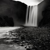 Random landscape photo - Skogafoss at Night