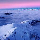 Random landscape photo - Twilight in Mountains